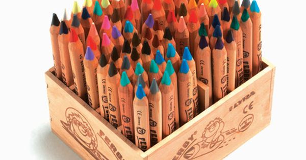 lyra ferby coloring pencil classpack - love the wood crate A little