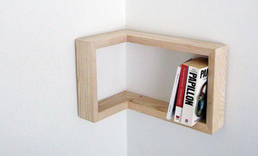 corner bookshelving