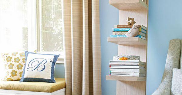 #DIY Leaning Bookshelf