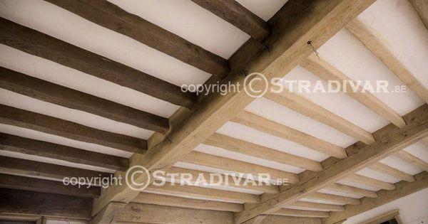 Zandstralen hout eik balken plafond huis en inrichting for Vaste trap ipv vlizotrap