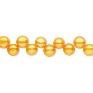 Pearl Cultured Freshwater Dyed Burnt Umber 5 6mm Top Drilled Flat Sided Round B Grade Mohs Har In 2020 Pearls Freshwater Pearl Beads Freshwater Cultured Pearls