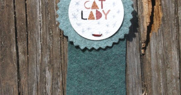 Cat lady ribbon from TWAMIES. Westervin For my mom.