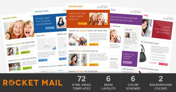 Rocket Mail Clean Modern Email Template Email Templates