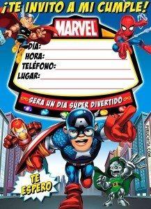 Invitación De Cumpleaños De Superhéroes Marvel Gratis