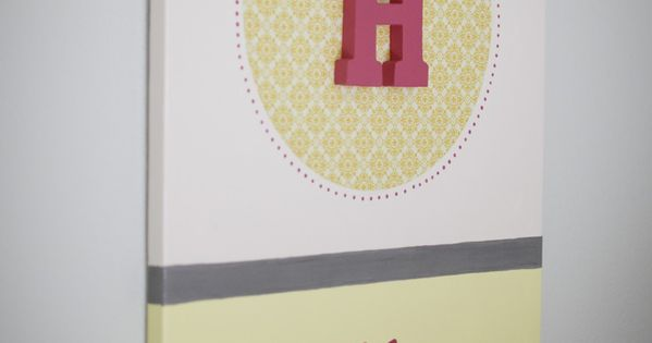 They have my name!! DIY canvas art with childs name...cute for baby