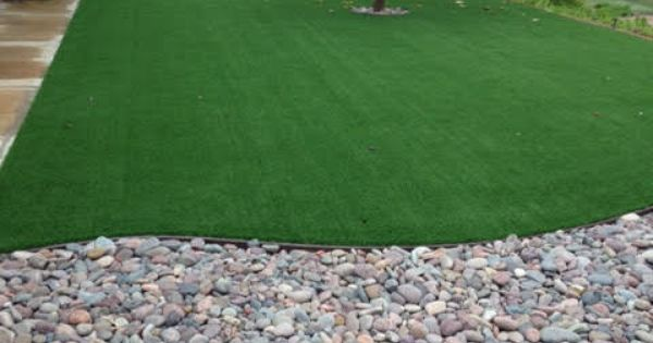 River Rock And Artificial Turf Combo Serenity
