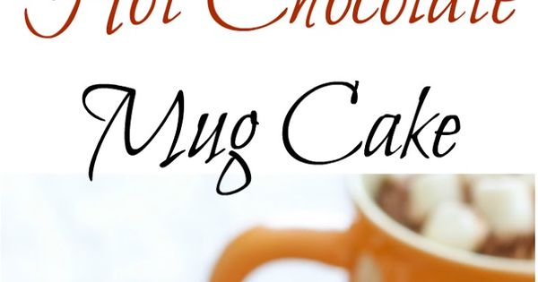 Hot Chocolate Mug Cake. Ready in 5 minutes!