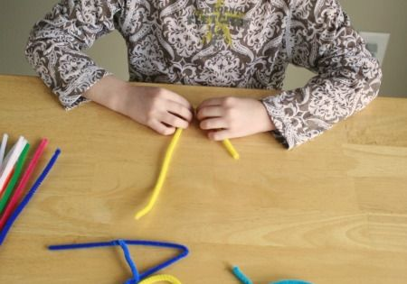 Making letters out of pipe cleaners {Have seen this before - might