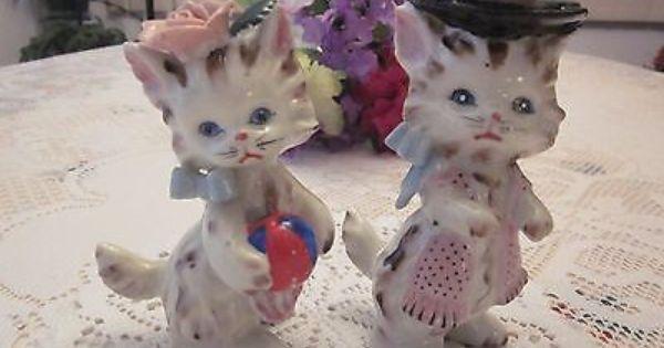 1950 39 S Leftons Darling Porcelain Kittens Rare Decor