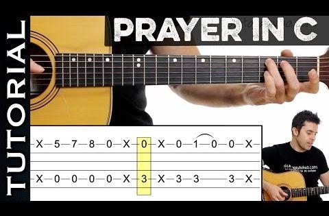 Como tocar prayer in c en guitarra ac stica tutorial con for Jardin con enanitos acordes