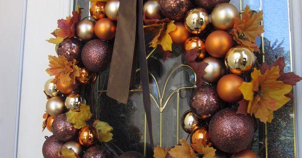 Holiday wreath idea