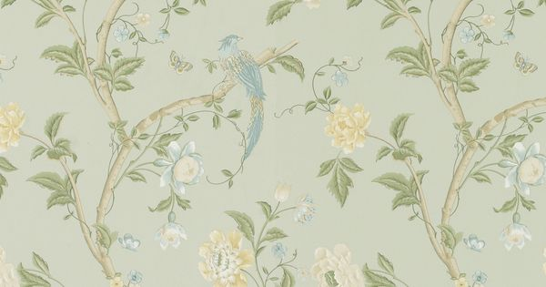 summer palace eau de nil floral wallpaper at laura ashley. Black Bedroom Furniture Sets. Home Design Ideas