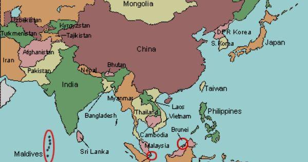 Asia Map Quiz Flashcards | Quizlet