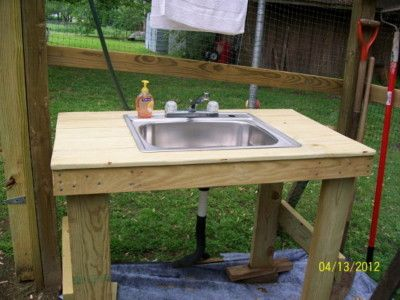 Garden Sink That Hooks Up To Your Garden Hose Garden Sink Outdoor Sinks Outside Sink