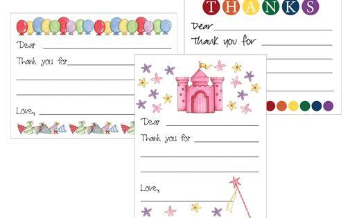 Free Printable Kid S Thank You Card Templates Card