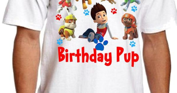 Paw Patrol Birthday Shirt For Daddy or Mommy by CreativeInviting