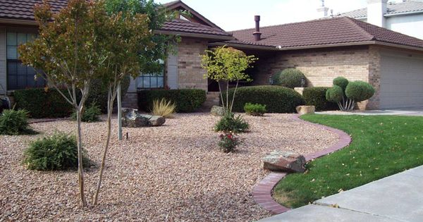 Xeriscape landscaping down lawn for less maintenance for Zero maintenance landscaping