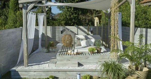 Realiser Un Coin Detente Sous Une Tonnelle Coin Detente Decoration Exterieur Amenagement Jardin
