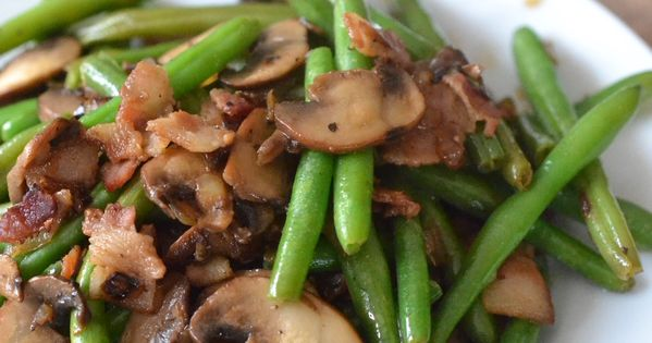 Green beans with bacon, Green beans and Green bean casserole on ...