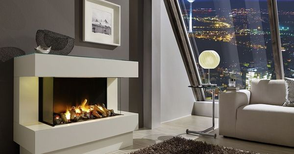 Interior Magnificent Electric Fireplace Set In The Living