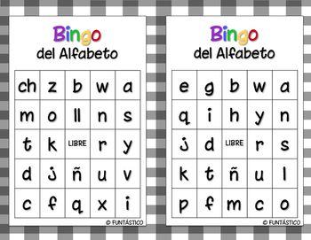 Bingo Del Alfabeto Alfabeto Espanol Alfabeto Lectura De Palabras