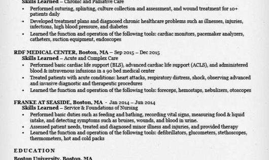 nursing student resume sample entry level nurse examples word pdf - resume sample writing for fresh graduate pdf