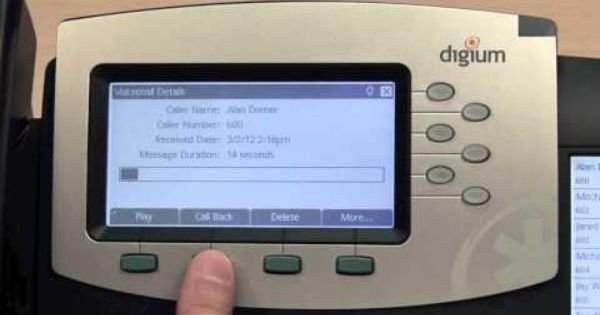 Interactive Voicemail On Digium Ip Phones Phone Voicemail Phone Apps