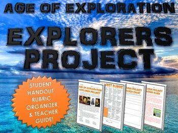 Age Of Exploration European Explorers Research Project With Rubric Explorers Projects Research Projects Social Studies Teacher