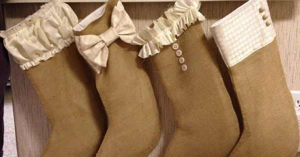 Bow Cuff - Burlap Stocking Tutorial | Kelsey Bang