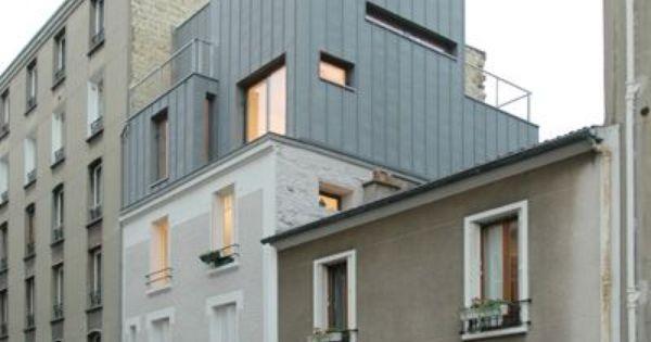 surelevation paris hardel et le bihan architectes realisation adici n pinterest. Black Bedroom Furniture Sets. Home Design Ideas