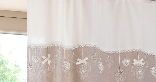 rideau nouettes en coton beige maison d coration pinterest. Black Bedroom Furniture Sets. Home Design Ideas
