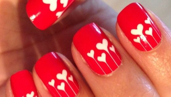 Heart Nails | Heart Nail Art: Valentines Day photo Callina Marie's photos