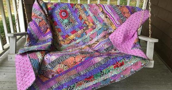 Stone Log Cabin Quilt Kit By Kaffe Fassett Quilt Kit Kaffe Fassett Fabric Fabric Kit