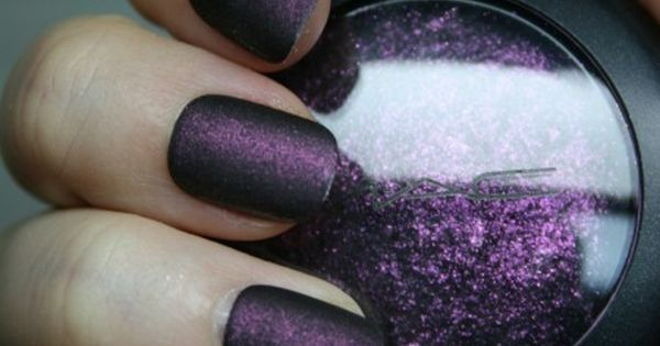 How to turn broken eyeshadow into matte nail polish diy nailpolish eyeshadow