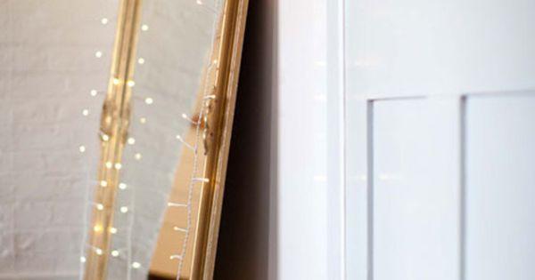 Awesome Christmas Lights House Ideas for Your Christmas Season: Amazing Big Mirror
