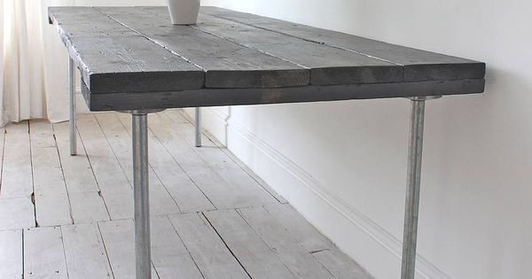 Gorgeous Decorating Ideas With Reclaimed Wood Industrial Dining Table