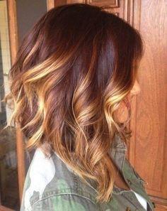 Wunderschone Frisuren Mittellang Mit Verruckten Farben Fur Diesen Herbst Seite 6 Von 11 Neue Frisur Hair Styles Red Ombre Hair Medium Length Hair Styles