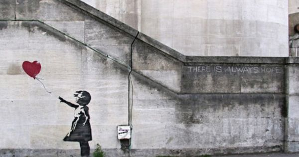There Is Always Hope Balloon Girl | Banksy on Canvas • Art