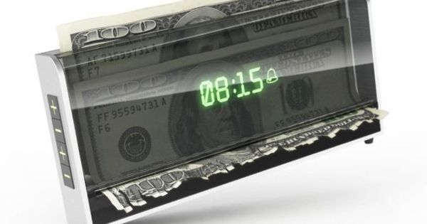 money shredding alarm clock if you don't wakeup it shreds your money
