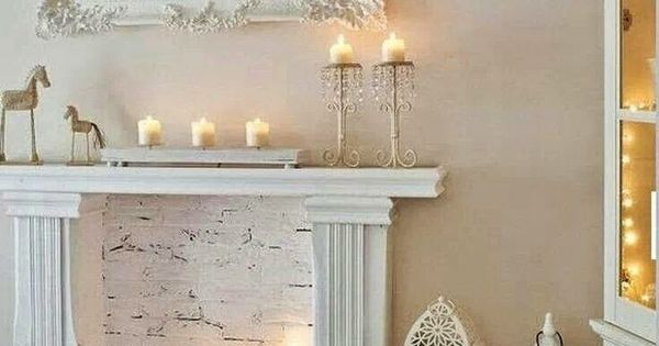 The Happy Chateau: Faux Fireplaces - Content to Rent Idea #  벽난로  Pinterest ...