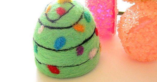 Christmas Tree GumDrop Gum Drop Needle Felted Soap Felt ...