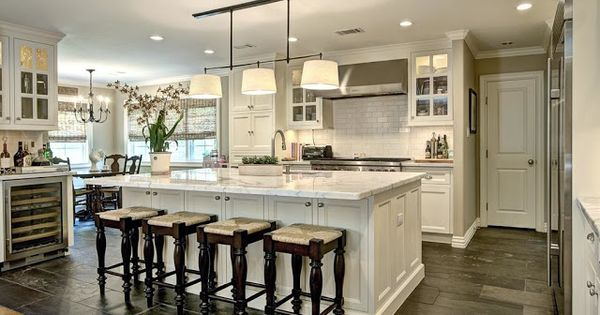 Hardwood to Tile Transition for new open style floor plan: French Country