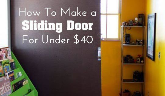 DIY Home Decor: How To Make a Sliding Door for Under $40
