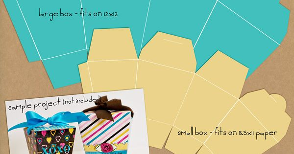 Take-Out Box Templates FREEBIE! Favor box
