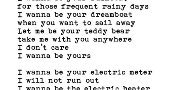 John Cooper Clarke Poem I Wanna Be Yours