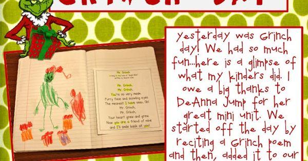 Grinch Day activities! :D | Preschool - December | Pinterest | Grinch ...
