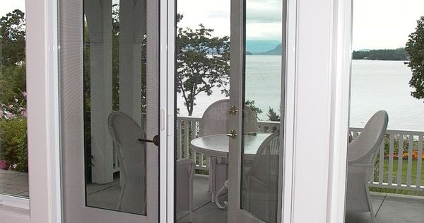 French doors with retractable screens french door for Hidden screens for french doors