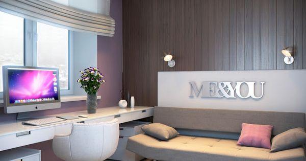 wandgestaltung jugendzimmer beispiel m dchen modern. Black Bedroom Furniture Sets. Home Design Ideas