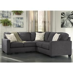 Alenya Charcoal 2 Piece Sectional With Left Loveseat By Signature Design By Ashley At Northeast Factory Direct Small Sectional Sofa Sectional Living Room Sets Cheap Living Room Sets