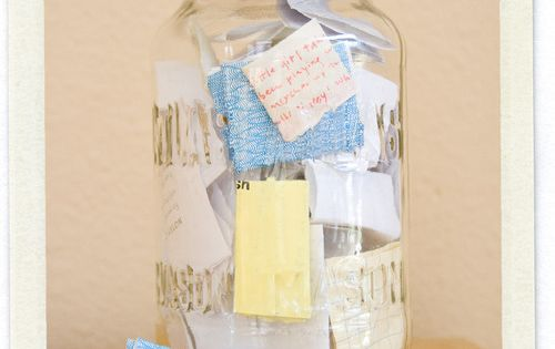Memory Jar - Add memories throughout the year and then read them